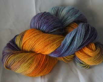 Hand dyed Alpaca yarn in 200grm skein