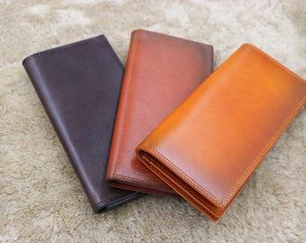 minimalist leather wallet,womens wallet,classic bifold wallet,minimalist clutch wallet, women's leather purse,leather wallet woman