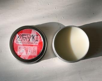 rose lip balm ~ 0.5 oz. \  lip moisturizer \ vegan lip balm \ organic lip balm \ lip butter \ handmade lip balm