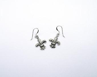 Bourbon Lily Earrings Sterling Silver