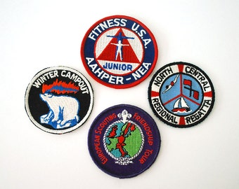 Boy Scout Patch, Vintage Scouting Memorabilia, 1970s Embroidered Badge, Winter Campout, European Scouting, Regatta, Fitness USA, Large Patch