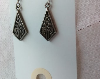Pair Sterling Silver Earrings/Marked 925