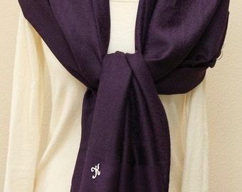 Eggplant paisley pashmina scarf, wedding gifts, bridesmaid gift, bridal shawl wrap