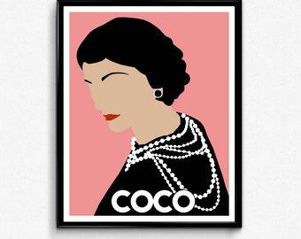 Coco Chanel Poster- Feminist Icon Poster, Minimalist Print, Wall Art