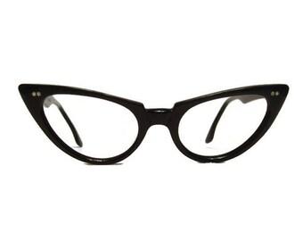 Vintage Winged AmericanOptical Cateye Eyeglasses Eyewear Frame 46-20
