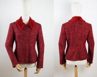 Vintage jacket with faux fur collar