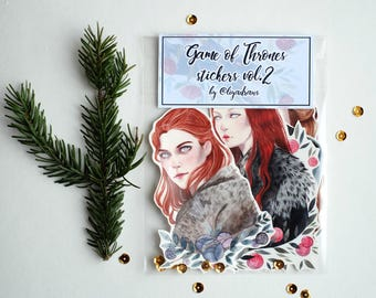 Game Of Thrones strong women Vinyl Laptop Stickers Vol.2| Sticker Set of 5 | Sticker Pack