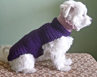 The Lena Dog Sweater Hand Crochet Cashmere and Wool