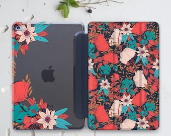 Floral iPad Pro Case 12.9 iPad Air 2 Case Clear Case iPad Mini 4 iPad Pro 9.7 Case Flower iPad 4 Case iPad 10.5 Case Hard Case iPad 3 WC4505