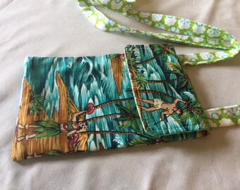 Phone Pouch Cross-Body, Phone Bag Cross-Body, Phone Purse Cross-Body, Made in Hawaii, Large Smart Phone Pouch