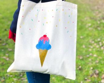 TOTE BAG - Icecream and sprinkles