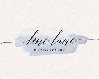 Calligraphy Logo | Line Lane | Logo Design, Graphic Design, Custom Logo, Photography Logo, Logo for Small Business, Boutique Logo