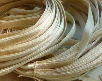 Vintage French Silk Satin Back Velvet Ribbon
