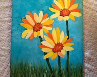 Abstract Mixed Daisys