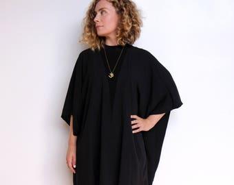 Kimono Shawl / Boho / Oversized / Cardigan / Wrap / Black / One Size /