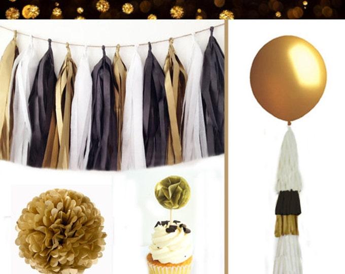 Graduation Party Decorations 2018, graduation party decor, Tassel Garland, Tissue Paper Poms,  Grad Party balloons, Grad Party Kit, Grad