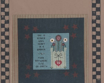 """Clearance - """"Nearer God's Heart"""" Counted Cross Stitch Chart by Stitches from the Heartland"""