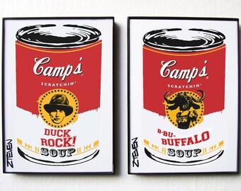 Malcolm McLaren Duck Rock and Buffalo Pop Art Soup! Original art set by Zteven