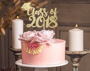 Class of 2018 cake topper graduation party decoration graduation cake topper graduation topper gold cake topper party decoration 2018