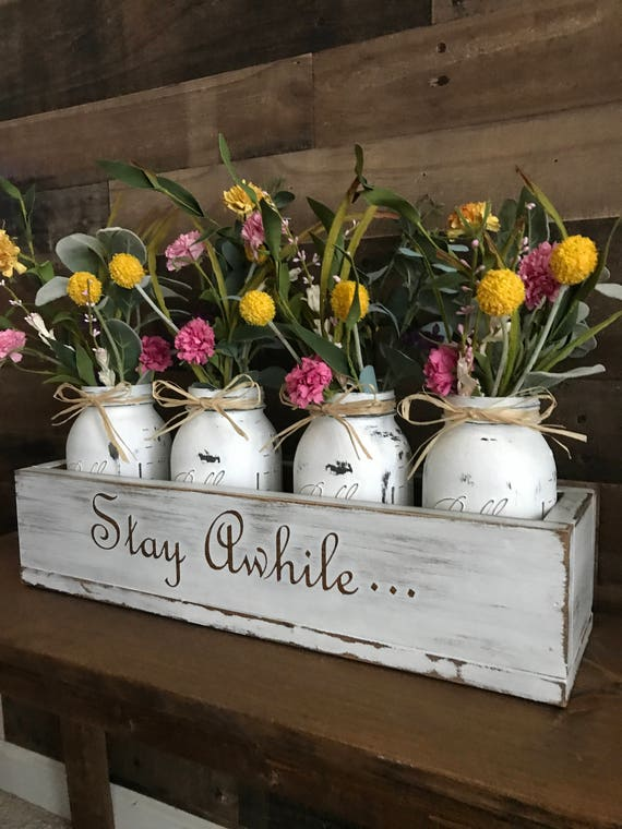 Rustic Gift For Mom, Gift For Her, Rustic Centerpiece, Farmhouse Decor Rustic Country, Mom Gift Personalized, Country Chic Gifts For Mom