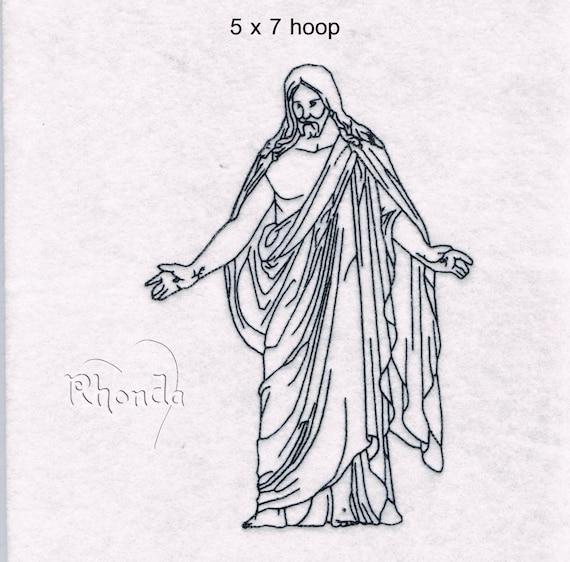 Jesus Christus LDS Machine Embroidery Designs from DesignsByRhonda ...