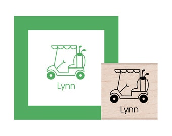 Golf Cart Personalized Rubber Stamp