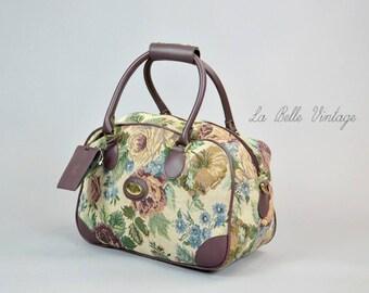 DVF Biarritz Tapestry Tote Bag Vintage Diane Von Furstenberg Weekender Travel Handbag