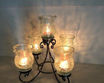 black steel Candleholders