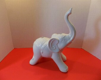 NEW Ceramic Good Luck Elephant Figurine Zen Asian Hindu  Home Decor  Gift