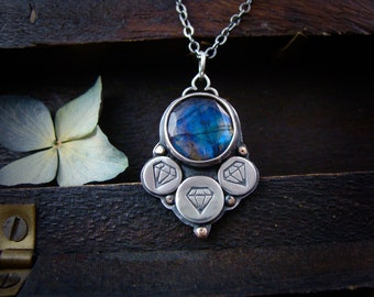 Lucy in the sky ... labradorite  pendant