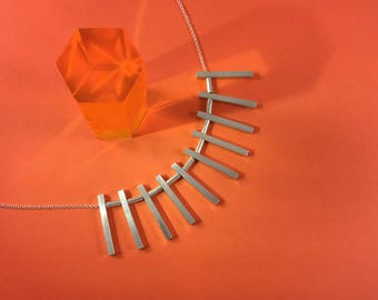 Little Monoliths Necklace // Sterling Silver