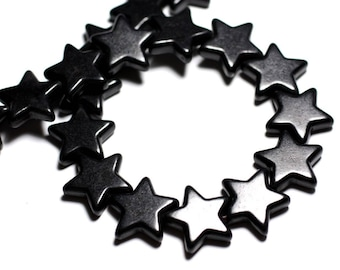 5pc - synthetic Turquoise beads 20mm black 4558550012876 stars