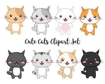 img etsystatic com il 73f18e 1273707740 il 340x270 rh etsy com cute cat clip art free free cute cat clipart