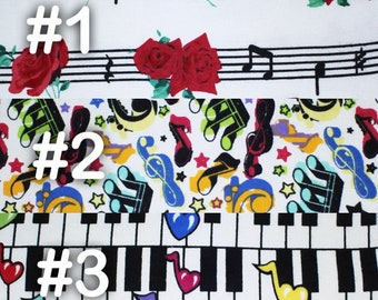 """Music Notes Piano Extra Large Receiving Blanket - 36"""" x 42"""""""