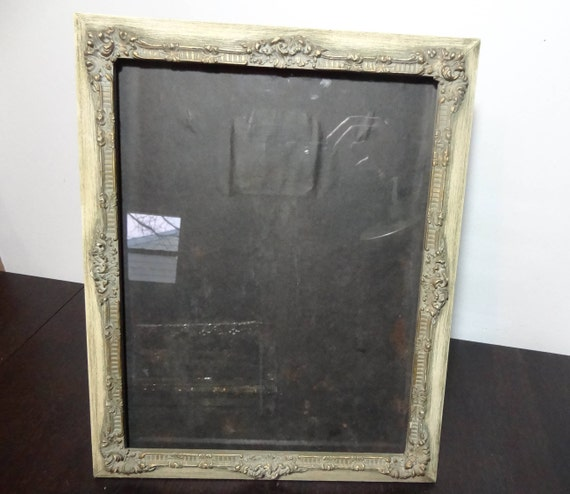 Vintage 10 x 13 Ornate Carved Wood Photo/Picture Frame - Beige with ...