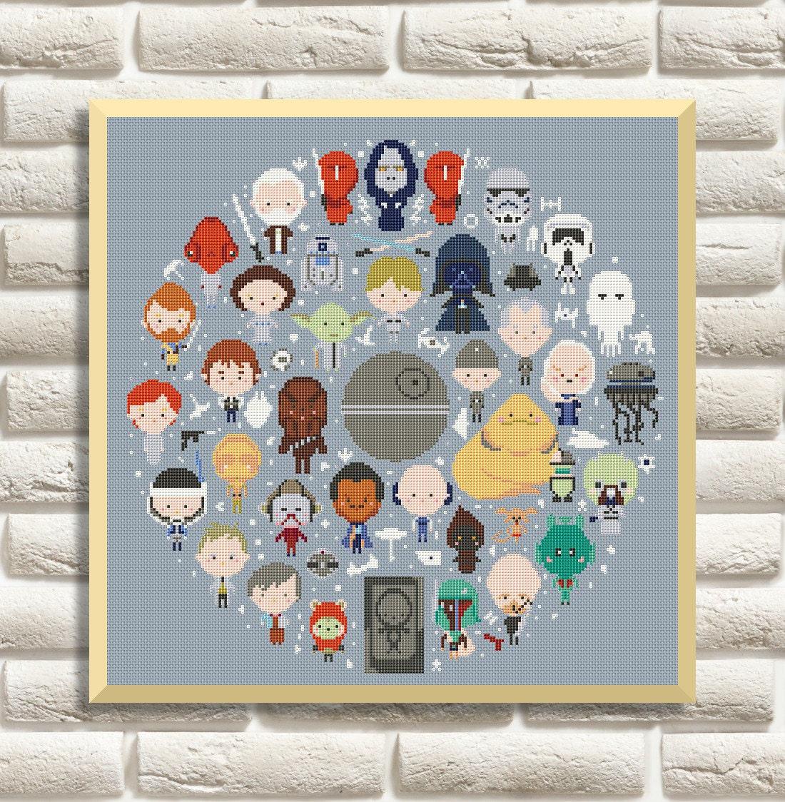 Star Wars Cross Stitch Pattern Mini Pixel People Counted