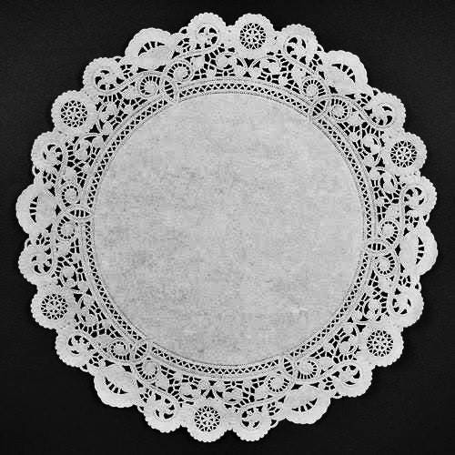 ?zoom  sc 1 st  Etsy & 16 WHITE PAPER Doilies NORMANDY Plate Chargers