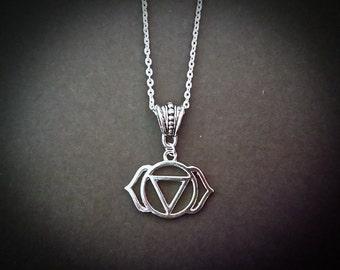 Third Eye Chakra Beautiful Pendant Necklace Inspired By Chakra Healing.