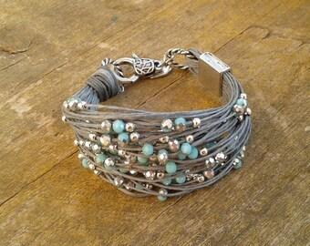 Bracelets for women beaded beaded jewelry beaded bracelet for woman cord bracelet pearl bracelet handmade in Italy gift for her