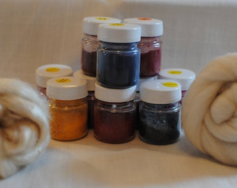 3 x 10g / 0.35oz pots of All in one acid dye - 23 colours to choose from.