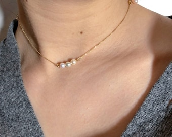 Akoya, Pearl Necklace 18K Gold