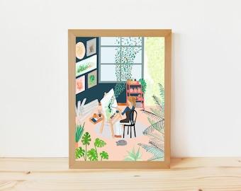 dibujo plantas, dibujo botánico, ilustración botánica, ilustración naturaleza, ilustración figurativa, ilustración plantas, artista