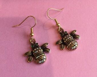 bumble bee earrings