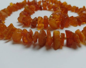 **Free Shipping** Raw amber vintage necklace