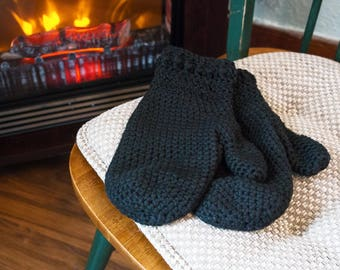 Adult Crochet Cotton Mittens - Color Choices Available -  Adult sizes - Womens Mittens