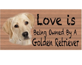 Golden Retreiver Wood Signs - Golden Retreiver GS404