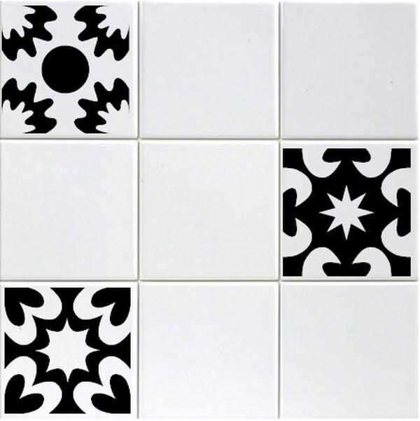 Set of Six 6 Vinyl Tile Decals 3 designs Boho Gypsy