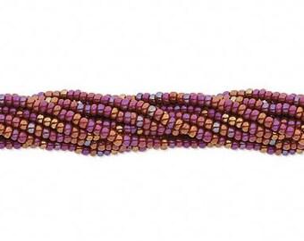 Preciosa Czech Seed Beads 11/0 Opaque Brown Rainbow