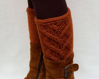 Boot Cuffs Hand Knitted Leg Warmers Womens Boot Toppers Knitted Boot Toppers Womens Boot Cuffs Knit Legwarmers womens gift for women for her