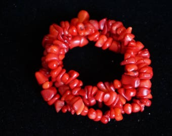 Gorgeous Red Coral Bracelet
